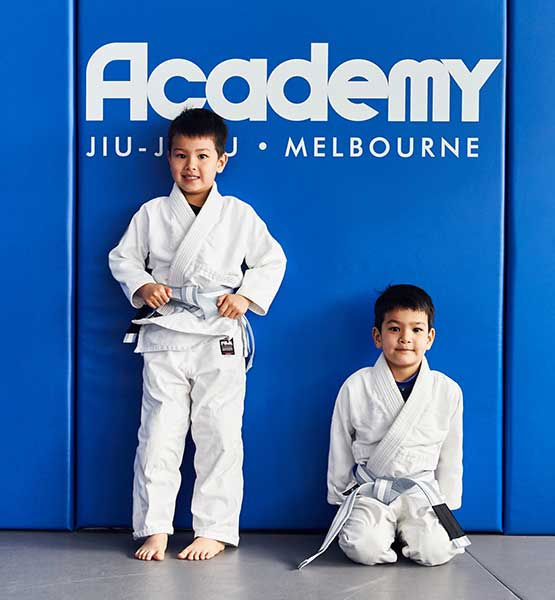 Why Train with AJJ? Kids below logo